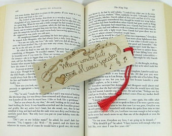Wood Bookmark. Music Quote. Music Bookmark. Music Teacher Gift. Banjo. Wood Pyrography. Violin Bookmark. Musician Gift. Instrument. Viola