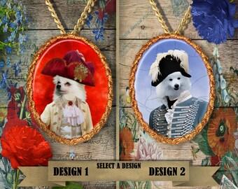 American Eskimo Jewelry American Eskimo Dog Pendant American Eskimo Dog Portrait American Eskimo Custom Dog Porcelain Jewelry Nobility Dogs