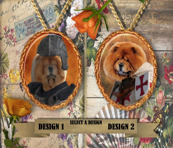 Chow Chow Jewelry.Chow Chow Pendant or Brooch.Chow Chow Necklace.Chow Chow Portrait.Custom Dog Jewelry by Nobility Dogs.Dog Handmade Jewelry