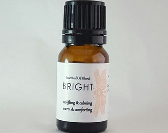 Aromatherapy Blend 'BRIGHT' - A celebratory blend of Certified Organic Sweet Orange, Frankincense with spice and resin oils.