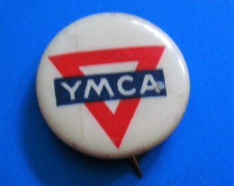 "YMCA PIN is 5/16 inch round, Markings in back of pin: ""Young Men's Christian Association"", ""New York City"", see description area for more ."