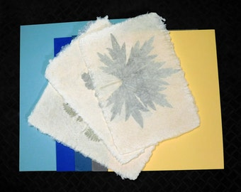 Handmade Paper with a Mat Background for Framing