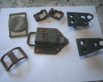Industrial belt buckles , latch, clips, rust, steampunk, Industrial Art Rusty goodies
