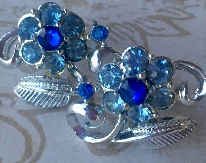 Vintage Jewelry, Vintage Earrings, Vintage Jewellery, Antique Jewelry, Vintage Style Earrings, Crystal Earrings, Flower Earrings, ScrewBack