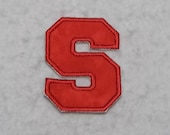 Single 4 inch Upper Case Letter (a - z) (Varsity Collegiate font) MADE to ORDER - Choose COLOR and Letter - Iron on Applique Patch z 6716