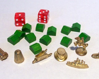 Monopoly Game Pieces, Scrapbooking Supplies, Journal Supplies, Mixed Media, Smash Books
