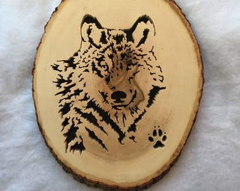 Forest Creature Art - Wolf Art - Forest Critters - Animal Decor - Woodland Critters - Rustic Wolf - Wolf Head - Woodland Decor - Wolf