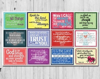 Affirmation Cards - Bible Verse Cards - Anxiety Help Cards - Labor Delivery Cards - Scripture Cards - Set of 12 Affirmation Cards w/Envelope