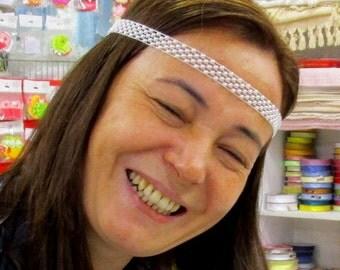 Beaded Wedding Headband, Bridal Headband, Wedding Accessory, Halo, Bridesmaid, Prom Headband, Ivory Headband, Tie back,Pearl beaded Headband