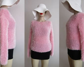 The Baby Spice Sweater Vintage Fuzzy Sweater Fuzzy Pullover