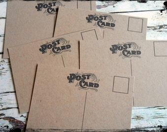 Mini Post Cards #1 - Kraft