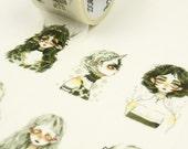 Punk Girl - Japanese Washi Masking Tape - 30mm wide - 5.5 yard