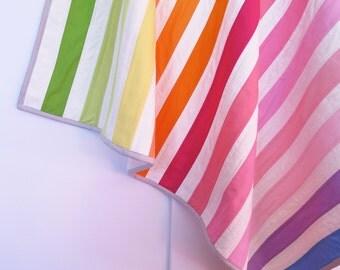 Baby quilt, toddler blanket, rainbow stripes, gender neutral, nursery bedding