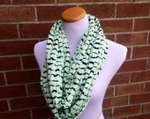 Mustaches on Pistachio Infinity Scarf