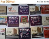 Now On Sale Vintage Vegas Matchbooks - Old 1960's 1970's Casino Matches - Lot of 18 Queens Stardust Circus Circus MGM Man Cave Home Decor