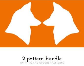 2 Pattern Bundle, Pattern Pack, Knitting, Crochet Pattern, Pattern Bundle, PDF Patterns, Crocheting, Knitting for Beginners, Winter Knits