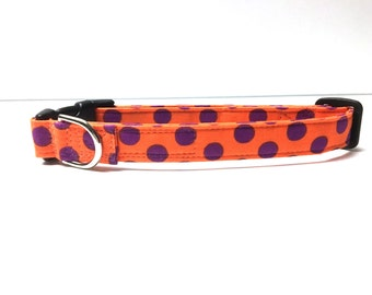 Naked Dog Collar- The Orange and Purple