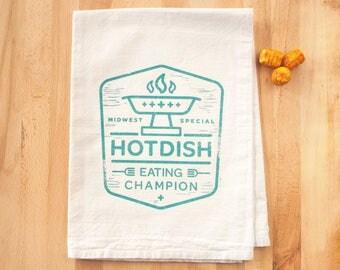 Hotdish Eating Champion - Dish Towel