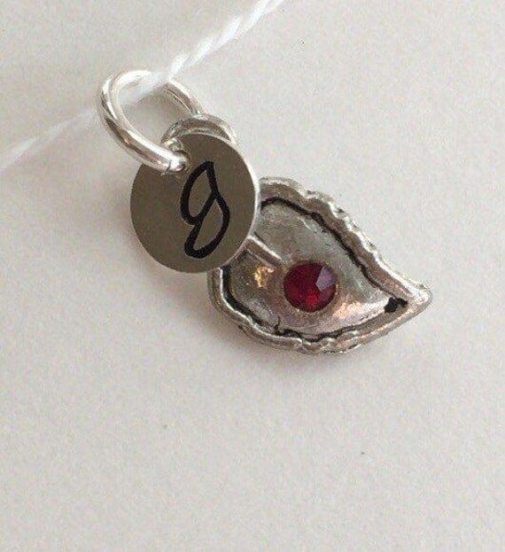 ADD a LEAF CHARM Antique Silver or Gold Plated Leaf with Crystal Birth Stone