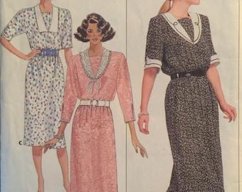 Butterick 4785, Size 12-14-16, Misses' Dress Pattern, UNCUT, Below Mid Knee, Belle France, Work Wear, Career, Vintage, 1987