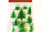 Christmas Tree Bakery Bread Bags, Frosted Baked Goods Sacks w/ Wire Top Closure, Holiday Cookie Bags, Party Favor Treat Bags itsyourcountry