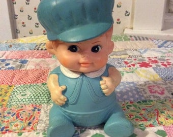 Vintage squeaky doll toy 1968 boy doll