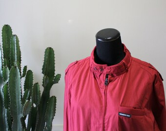 Vintage Brick Red Members Only Jacket Size Large 1980s