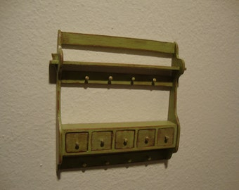 dollhouse  miniature panel box with drawers kitchen