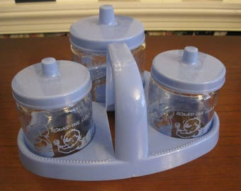 Seven piece bathroom set for Baby Boy's clean-up