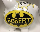 Personalized Piggy Bank Batman