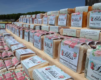 Soap of the Month Club 6 month's of gorgeous soap by Bliss Soaps, Shampoos, & Lotions