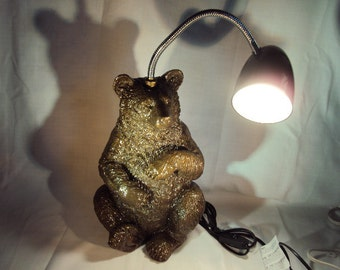 Bear Sculpture Lamp, Desk, Table, Study,Reading Lamp, Shipping Included