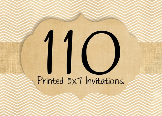 110 Printed Invitations