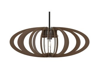 Laser cut design open oval pendant lamp, handmade wood or colour perspex acrylic by choice