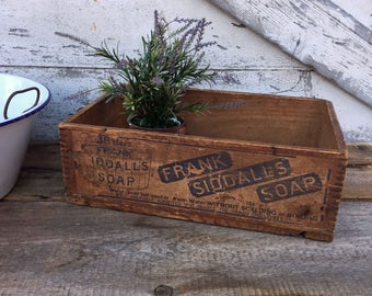 Antique Frank Siddall's Wooden Soap Box - Philadelphia PA - Dovetailed Box - Old Advertising Soap Box - Shipping Crate - Store Display