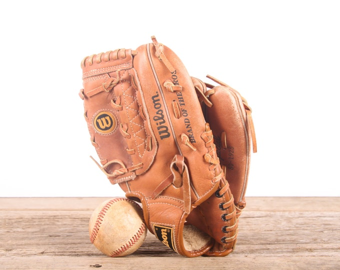Old Leather Baseball Glove / Vintage Glove / Small Youth Wilson Tommy John Baseball Glove / Antique Baseball Glove / Old Glove Antique Mitt