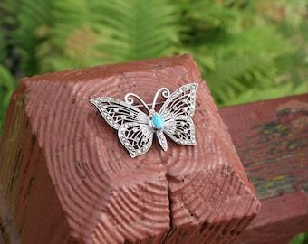 Butterfly Brooch Silver Pin
