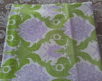 Lavender and Green Baby Blanket