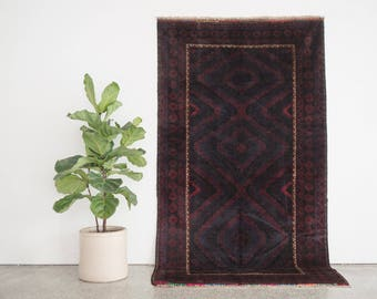 AJMAL 4x8 Hand Knotted Baluch Wool Rug