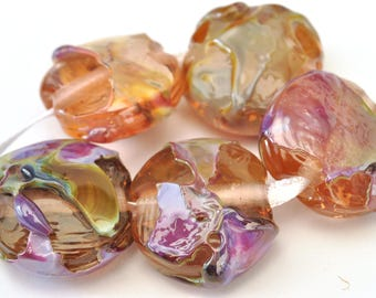 Magic Beads (5 Beads) - Handmade Lampwork Glass Beads  -SRA