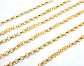 10% Sale Gemshow Gold Fill Finished Rolo Chain Necklace 2.3mm-- ONE FOOT (M977)