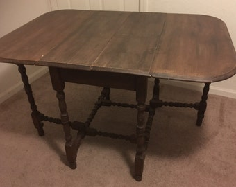 Drop Leaf Table Etsy - Antique gateleg tables