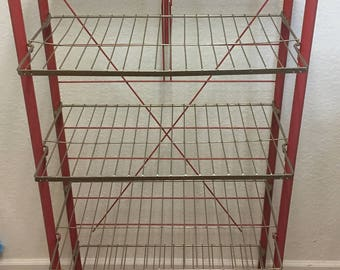 Vintage store  shelves * vintage store display* folding shelves • vintage bakery shelves  • vintage advertising store shelves