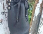Black fringed mini handbag