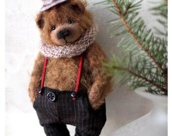 Teddy bear Stasik 16,5 cm OOAK