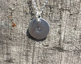 Sterling silver necklace with initial