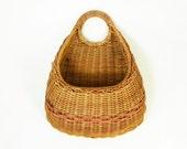 Hanging Wicker Basket, Wall Pocket Basket