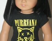 Purrvana tshirt for 18 inch dolls