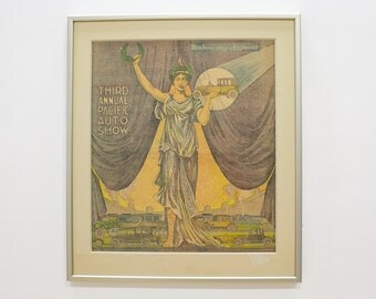 Antique Auto Memorabilia, San Francisco Examiner, Art Deco Wall Art