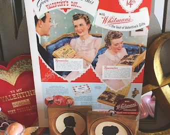 Vintage Whitman Chocolates advertisement